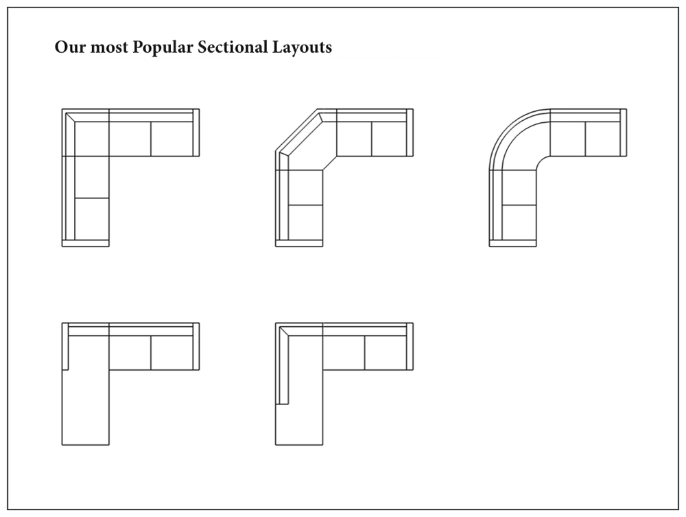 View Our Standard Sectional Configurations.